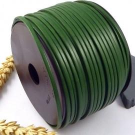Cuir plat 3mm vert gazon