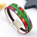 kit tutoriel bracelet cuir arc en ciel
