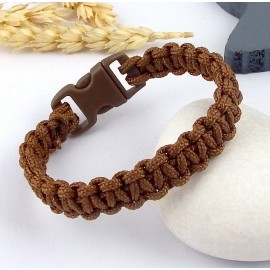 kit tutoriel bracelet paracorde marron