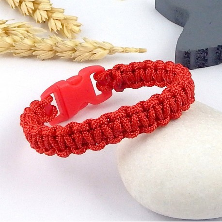 kit tutoriel bracelet paracorde rouge