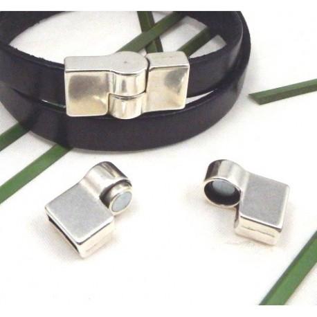 Fermoir magnetique pour cuir 10mm