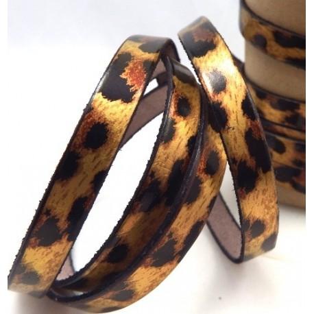 cuir plat leopard 10mm