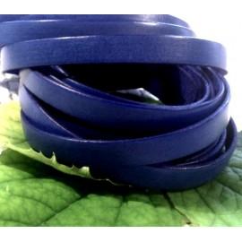 Cuir plat 10mm bleu gitane