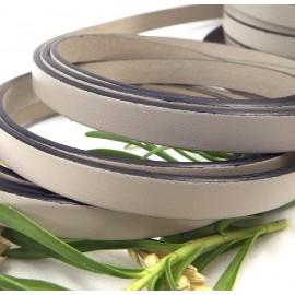 Cordon cuir plat mastic 10mm