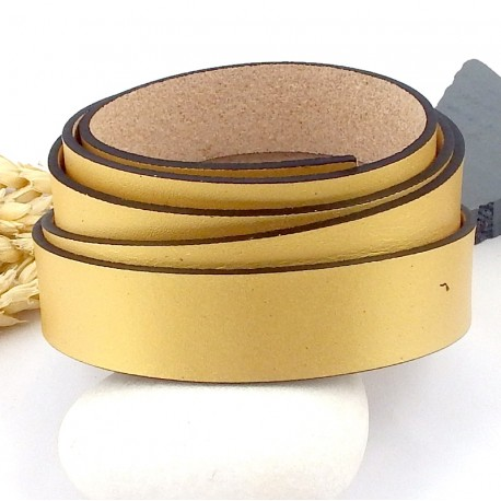 cuir plat 20mm dore mat haute qualite par 19cm