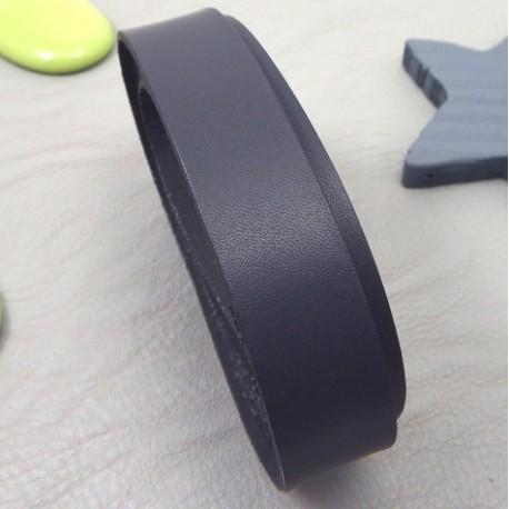 cuir plat 20mm gris haute qualite par 19cm