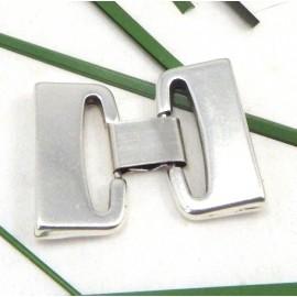 Fermoir clip haute qualite metal argente pour cuir 30mm
