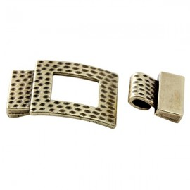 Fermoir martele bronze pour cuir 15mm