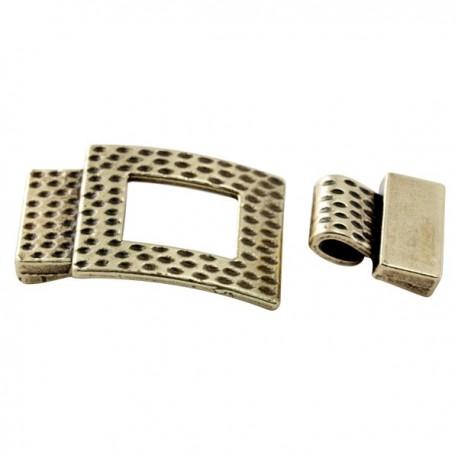 embout fermoir martele bronze pour cuir 15mm