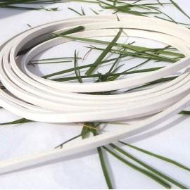 rare Cuir plat 3mm blanc par 20 cm