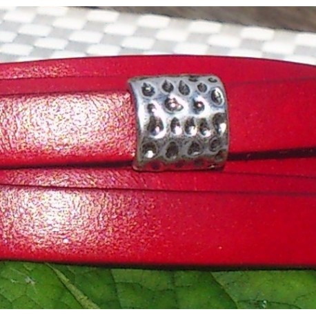 passe cuir poincons argente pour cuir 10mm