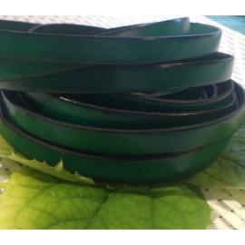 Cuir plat 10mm vert sapin