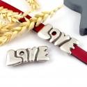 passe cuir love style graph plaque argent pour cuir 10mm