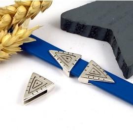 passe cuir ethnique geometrique argent cuir 10mm