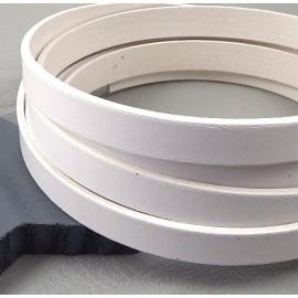 Cuir plat 10mm blanc