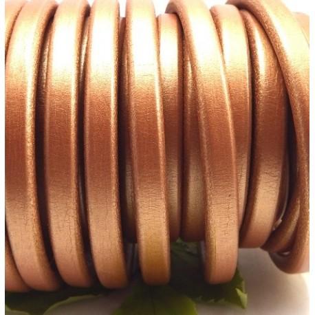 Cuir ovale regaliz cuivre metal par 20cm