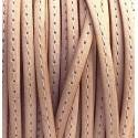 cuir plat 5mm naturel couture