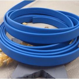 cuir plat 10mm bleu vif double haute qualite par 20 cm