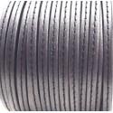 cuir plat gris fonce avec couture 5mm