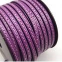 cuir plat lilas 5mm avec couture
