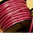 cuir plat 5mm couture bordeaux