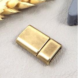 Fermoir magnetique bronze tres plat pour cuir plat 10mm