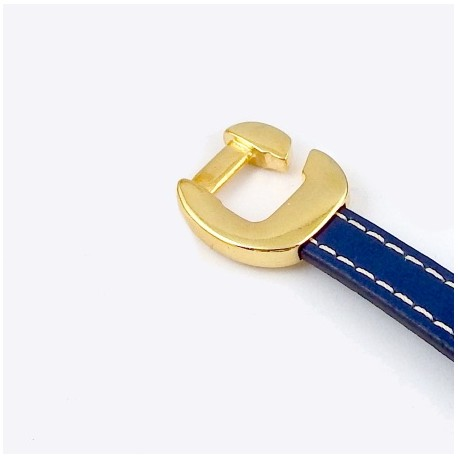 embout crochet plat seul original flashe or pour cuir 10mm