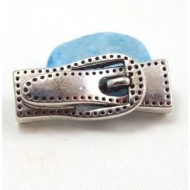 1 fermoir magnetique ceinture surpiquee pour cuir plat 5 a 7mm