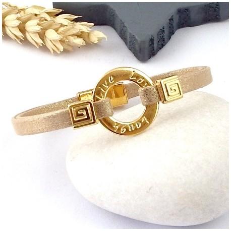 Kit tutoriel bracelet lame or nude voeux perles et fermoir zamak flashe or