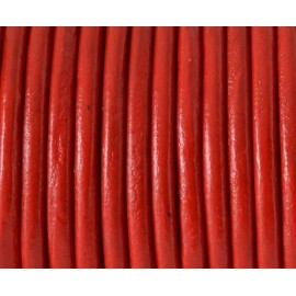Cordon cuir rouge 4mm par 20cm