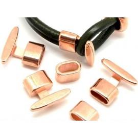 Fermoir zamak cuivre pour cuir rond de 2 a 5mm