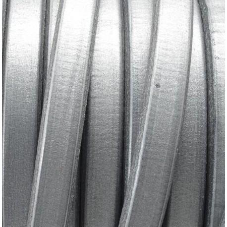 cuir ovale regaliz bleu metal