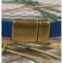 Fermoir magnétique plat en zamak bronze pour cuir 10mm