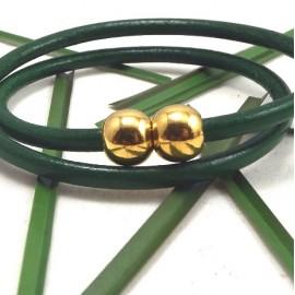 Fermoir magnetique rond metal dore pour cuir rond 4mm