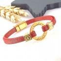 Kit tutoriel bracelet lame rouge voeux perles et fermoir zamak flashe or