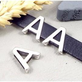 Passe cuir lettre alphabet pour cuir plat 10mm