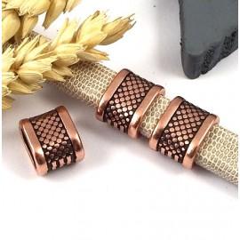 passe cuir design zamak cuivre pour cuir regaliz haute qualite