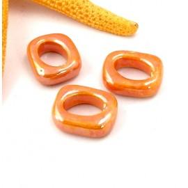 passe cuir rondelle ceramique orange pour cuir regaliz