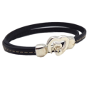 Kit tutoriel bracelet cuir couture noir fermoir coeur
