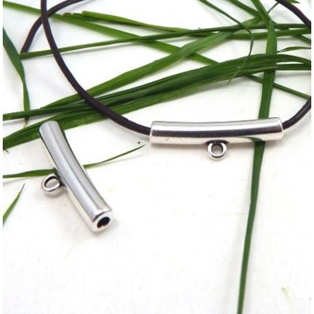 tube beliere passe cuir plaque argent haute qualite pour cuir 2mm