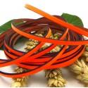 Cuir plat 3mm orange fluo