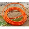 Cuir plat 5mm orange fluo