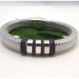 kit tutoriel bracelet cuir regaliz micrograve argent avec perles et fermoir plaque argent