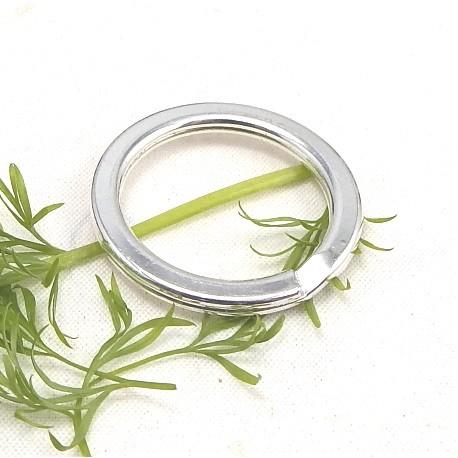 anneau pour porte cles zamak plaque argent 29mm