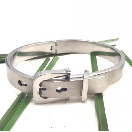 bracelet artisanal zamak argent et cristal swaroski vert