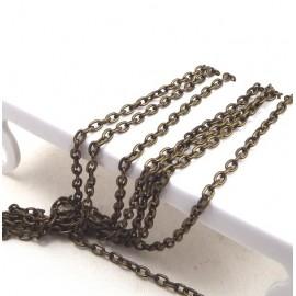 Chaine forçat bronze 4x3mm