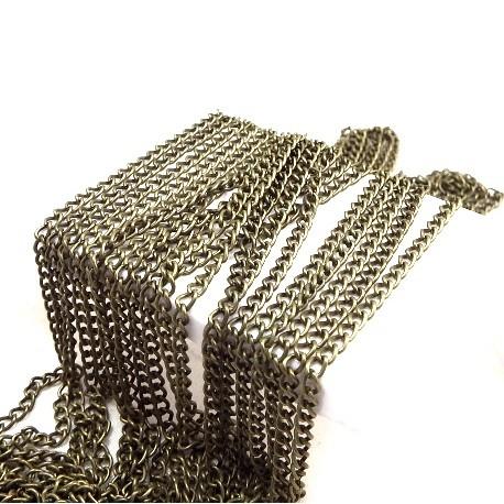chaine forcat bronze vieilli 4x3mm