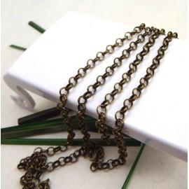chaine gourmette bronze 2mm