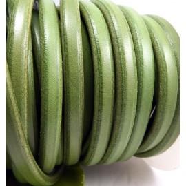 Cuir ovale regaliz vert pistache vintage