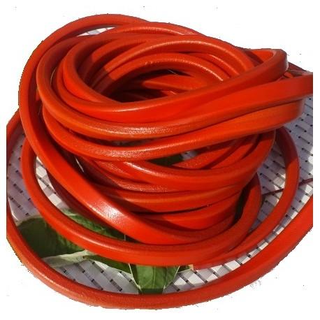 cuir ovale regaliz orange